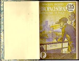 EUROPA CENTRAL EN 1922. IMPRESIONES DE VIAJE: URQUIZO, Francisco L.