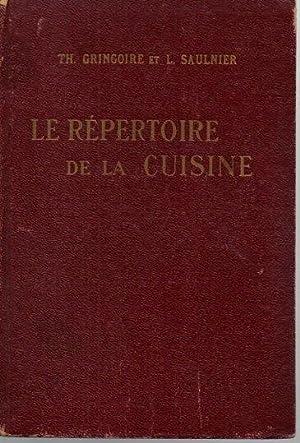 R pertoire cuisine de gringoire saulnier abebooks for Repertoire de la cuisine