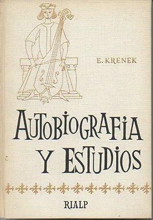 AUTOBIOGRAFIA Y ESTUDIOS.: KRENEK, Ernst.