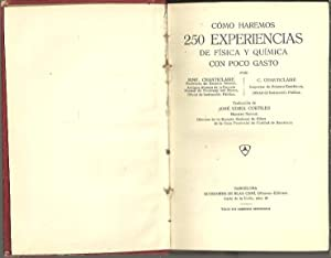 COMO HAREMOS 250 EXPERIENCIAS DE FISICA Y: CHANTICLAIRE, Mme. CHANTICLAIRE,