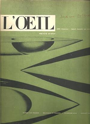 L'OEIL. REVUE D'ART MENSUELLE. NUMERO 43-44. ETE 1958.: REVISTA.