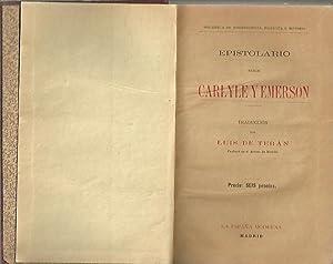 EPISTOLARIO ENTRE CARLYLE Y EMERSON.: CARLYLE, Thomas.