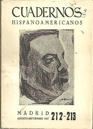 CUADERNOS HISPANOAMERICANOS. 212-213. AGOSTO-SEPTIEMBRE 1967. HOMENAJE A RUBEN DARIO.: REVISTA.