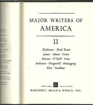 MAJOR WRITERS OF AMERICA. II. DICKINSON, MARK: AA.VV.
