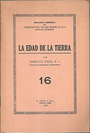 LA EDAD DE LA TIERRA.: PUIG, Ignacio.