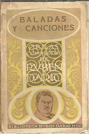 BALADAS Y CANCIONES.: DARIO, Rubén.