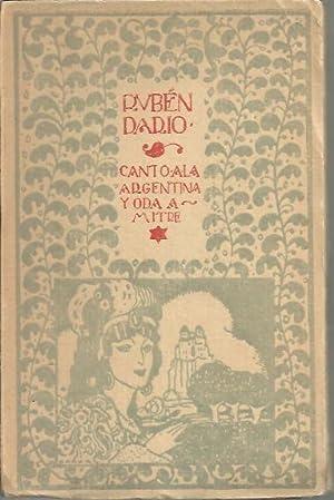 CANTO A LA ARGENTINA. ODA A MITRE: DARIO, Rubén.