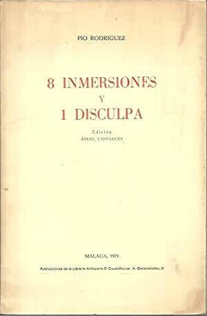 8 INMERSIONES Y UNA DISCULPA.: RODRIGUEZ, Pío.