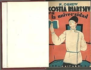 COSTIA RIABTSEV EN LA UNIVERSIDAD.: OGNEW, N.