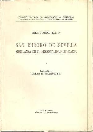 SAN ISIDORO DE SEVILLA. SEMBLANZA DE SU: MADOZ, José.