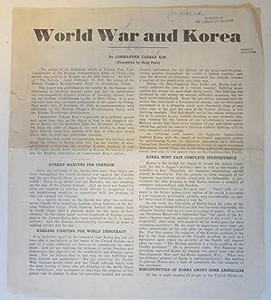 World War and Korea: Yaksan Kim
