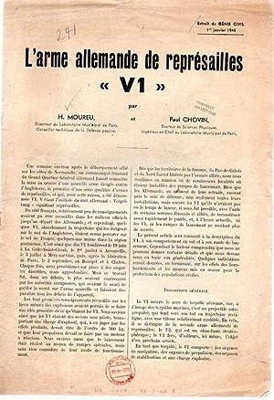 "L'arme allemande de represailles V1"": Henri Moreau and Paul Chovin"