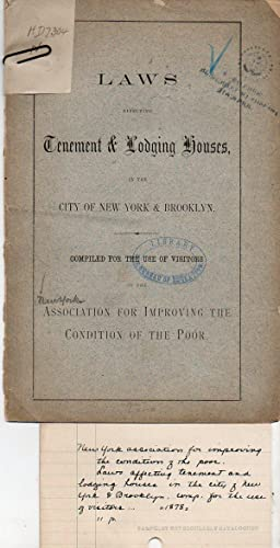 Laws Affecting Tenement and Lodging Houses in
