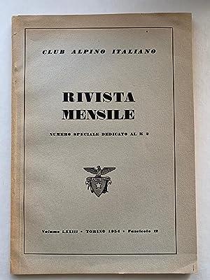 Rivista Mensile, numero speciale dedicato al K2, Volume LXXIII, Fascicolo 12: Bertoglio, Giovanni (...
