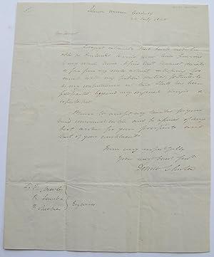 Autographed Letter Signed: Clinton, DeWitt