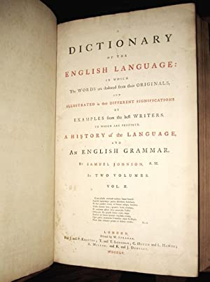 A Dictionary of the English Language: In: Johnson, Samuel; Rev.