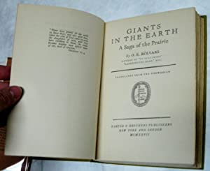 Giants of the Earth (First Edition with Dust Jacket): O.E. Rolvaag