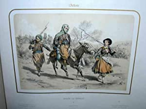 6 Hand-Colored Lithographs. (Lithograph, Better Than Chomolithograph) L'Artiste: Album De Tableau...