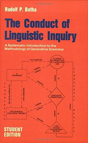 Conduct of Linguistic Inquiry: A Systematic Introduction to the Methodology of Generative Grammar...