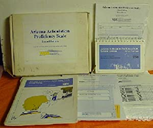 Arizona Articulation Proficiency Scale Manual and Picture Test Cards: Janet Barker Fudala and ...