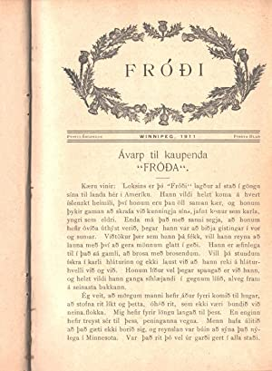 Fróði / Published by / útg. Magnús J. Skaptason (Transl: The ...