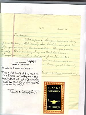 Bourbon on the Rocks.: Steinbeck, John.