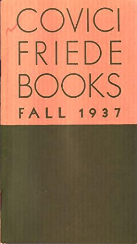 Covici Friede Books Fall 1937.: Steinbeck, John.
