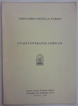 CUASI CONTRATOS ATIPICOS (Publ. en el Anuario: ORTEGA PARDO, Gregorio