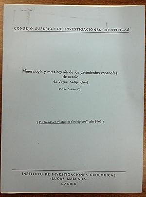 MINERALOGIA Y METALOGENIA DE LOS YACIMIENTOS ESPAÑOLES: ARRIBAS, A.