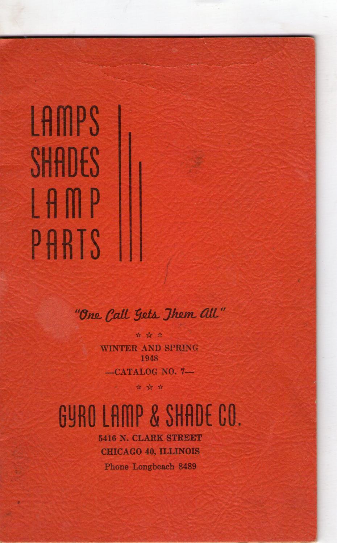 LAMP SHADES, LAMP PARTS. CATALOG NUMBER 7 OF THE GYRO LAMP & SHADE COMPANY