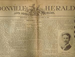 BOONVILLE HERALD AND ADIRONDACK TOURIST (Newspaper). Issue of Thursday October 29, 1903