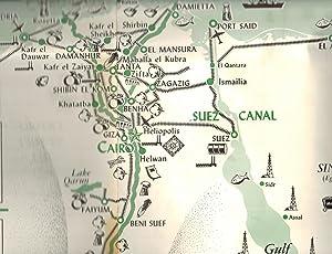 EGYPT (MISR). Large Foldout Map