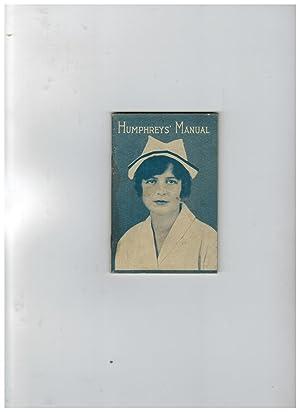 HUMPHREYS' MANUAL ON THE CARE AND TREATMENT: Humphreys, Frederick M.D.