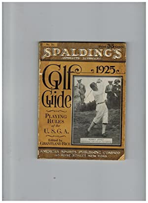 SPALDING'S GOLF GUIDE 1925