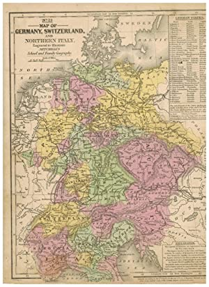 MAP OF GERMANY, SWITZERLAND, AND NORTHERN ITALY,