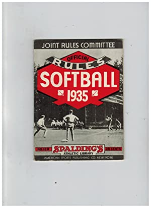 OFFICIAL RULES OF SOFTBALL (Spalding's Athletic Library)