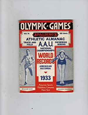 SPALDING'S OFFICIAL ATHLETIC ALMANAC 1933