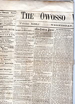 THE OWOSSO WEEKLY PRESS. Newspaper Issue for February 3, 1875