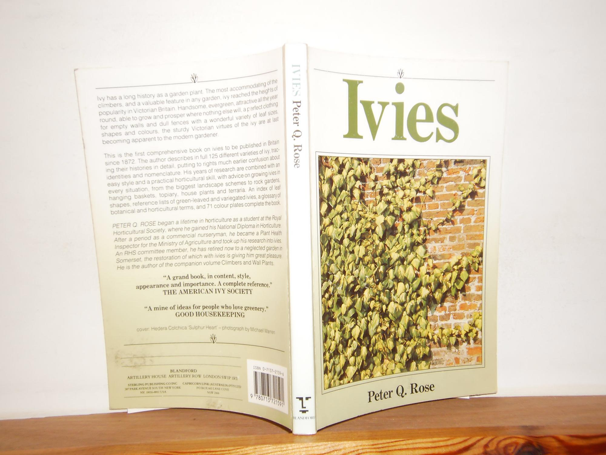 Ivies by rose peter q blandford london 9780713721591 soft cover ivies by rose peter q blandford london 9780713721591 soft cover jims old books ccuart Images