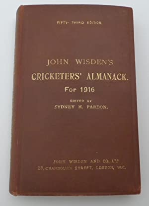 John Wisden s Cricketers  Almanack for 1916