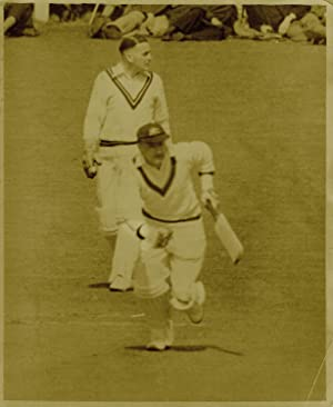 [Don Bradman batting at the County Ground, New Road, Worcester.]
