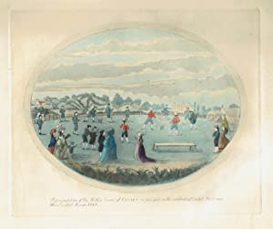 Representation of the Noble Game of Cricket as played in the celebrated Cricket Field near White ...