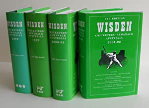 Wisden Cricketers  Almanack Australia 1998 (- 2002) (1st   4th Editions).