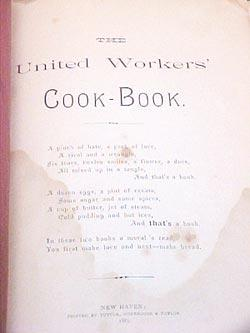 United Workers' Cook-Book: United Workers, New Haven, Connecticut