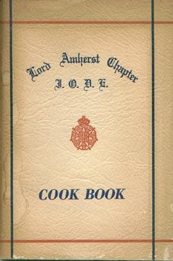 Cook Book (Nova Scotia): Empire, Lord Amherst Chapter I.O.D.E [Imperial Order Daughters Of The