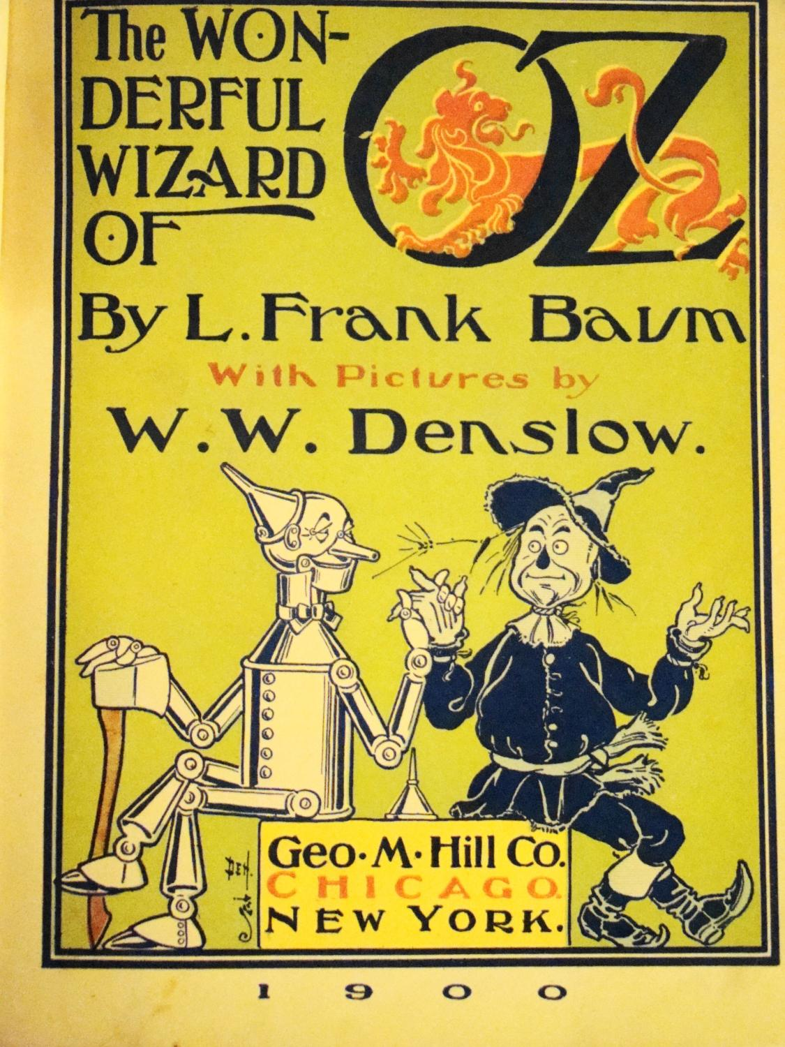 L frank baum the wonderful wizard of oz first edition seller.