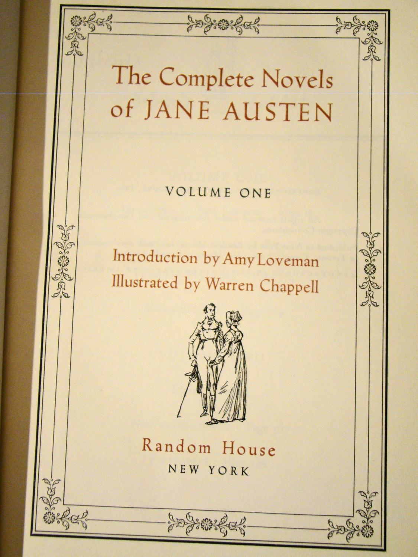 The Complete Novels Of Jane Austen In 2 Volumes
