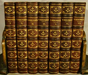 The Poetical Works of William Wordsworth. 7 volumes in full period gilt morocco.