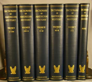 Dictionary of American History. 6 volumes including index volume, complete.