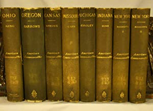American Commonwealths. Seven first editions in eight volumes of the series, 1885-1888.